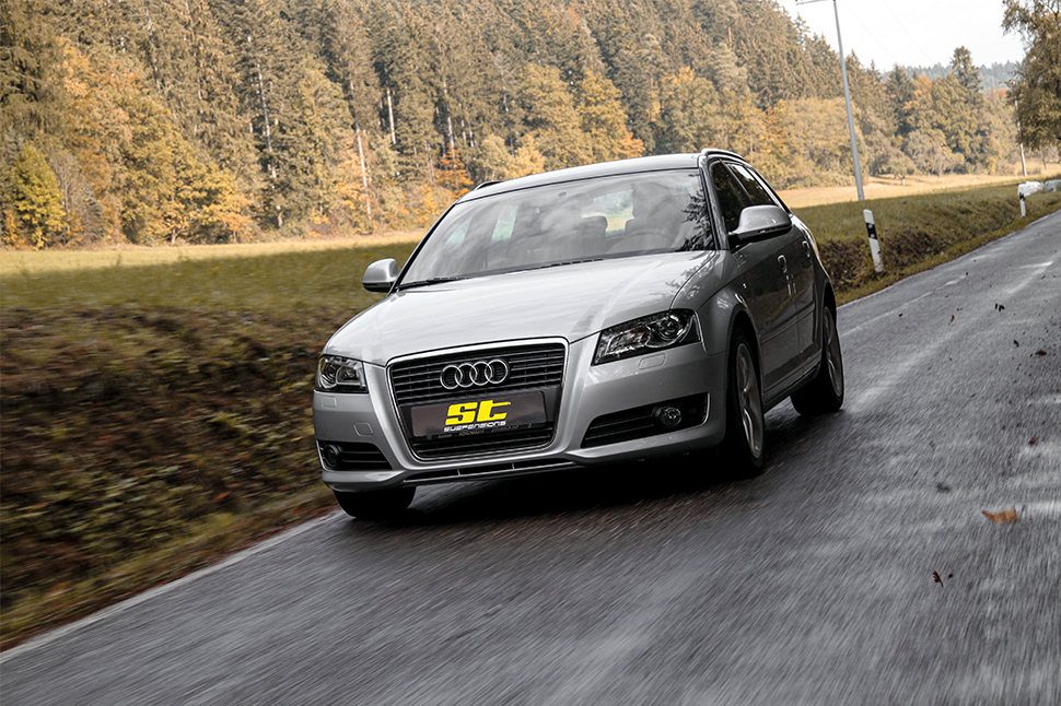 The part certificate allows a motor vehicle expert to easily check the correct installation of the ST coilover suspension in your Audi A3 and enter it in the vehicle documents for the legal use of the aftermarket products on public roads.