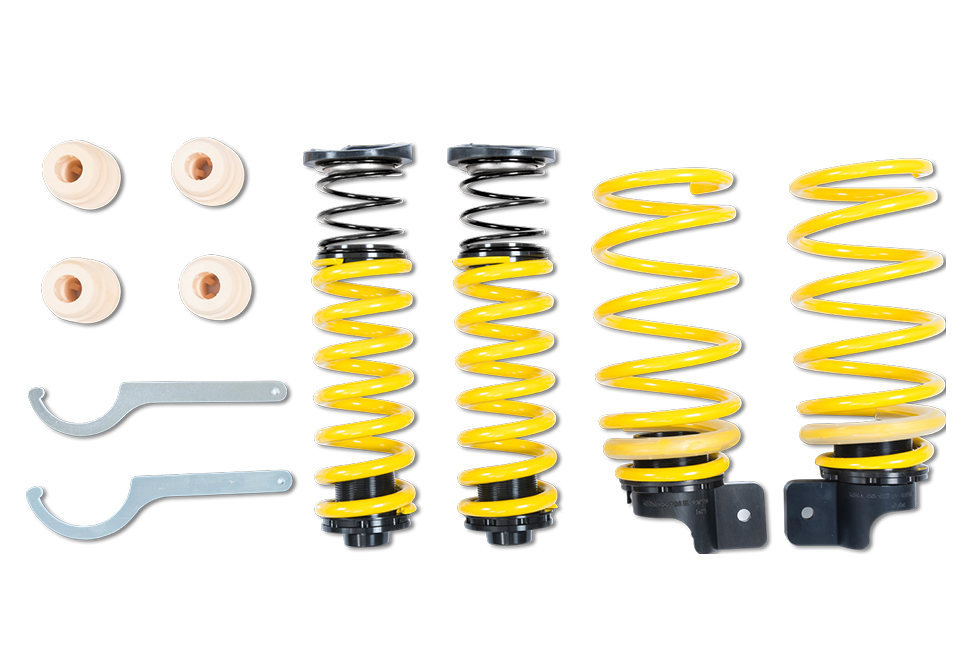 The adjustment range is between 15 – 30 millimeters with the height-adjustable ST springs.